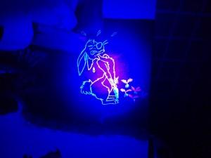 Tableau coco lapin peins UV