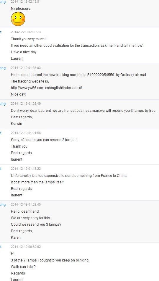 Karen king ampoules led chinoises conversation
