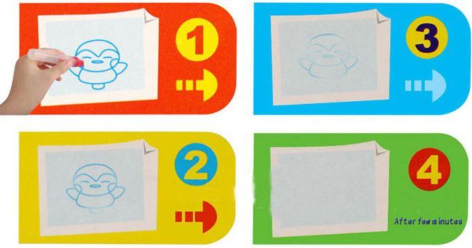 etape utilisation tapis dessin eau aqua doodle