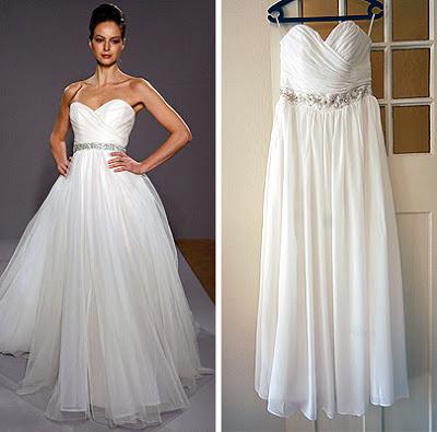 ... sur les robes de mariée en leur faisant copier une robe de couturier