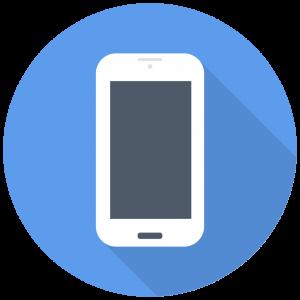 telephone portable logo flat