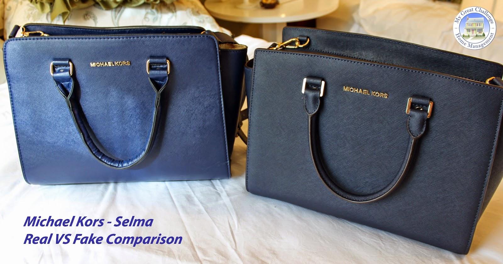 fc981a8fb6 Comparaison entre le vrai sac Michaël Kors Selma et l'imitation