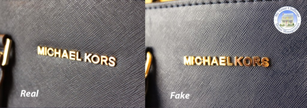logo vrai sac et imitation de mickael kors selma