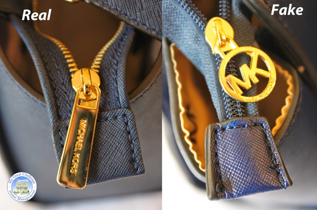 zip vrai sac et imitation de mickael kors selma