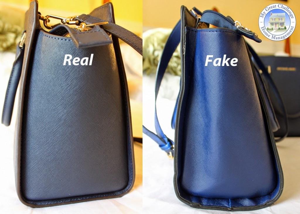 tranche vrai sac et imitation de mickael kors selma
