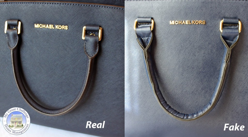 poignet vrai sac et imitation de mickael kors selma