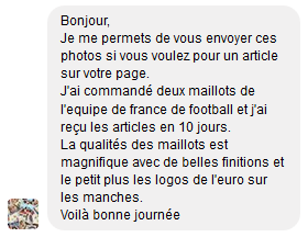message facebook alex maillot foot aliexpress