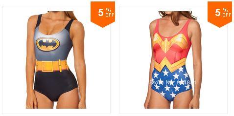 maillots de bain batman wonderwoman
