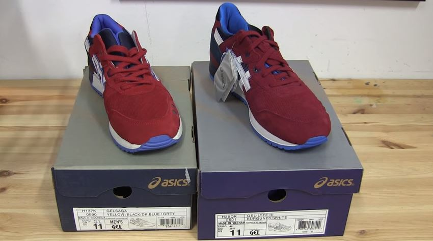 asics gel lyte 3 replica comparison original