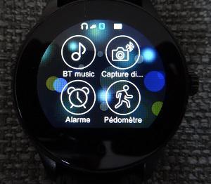 smartwatch-K88H-menu-podometre