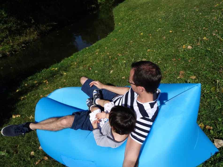 Matelas gonflable GearBest pere et fils
