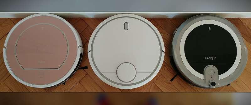 Ilife-V7S-vs-Xiaomi-Mi-Robot-vs-Jisiwei-i3-design-vue-du-dessus-avis-express