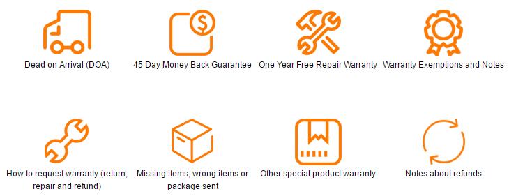 Promesses de garantie de GearBest