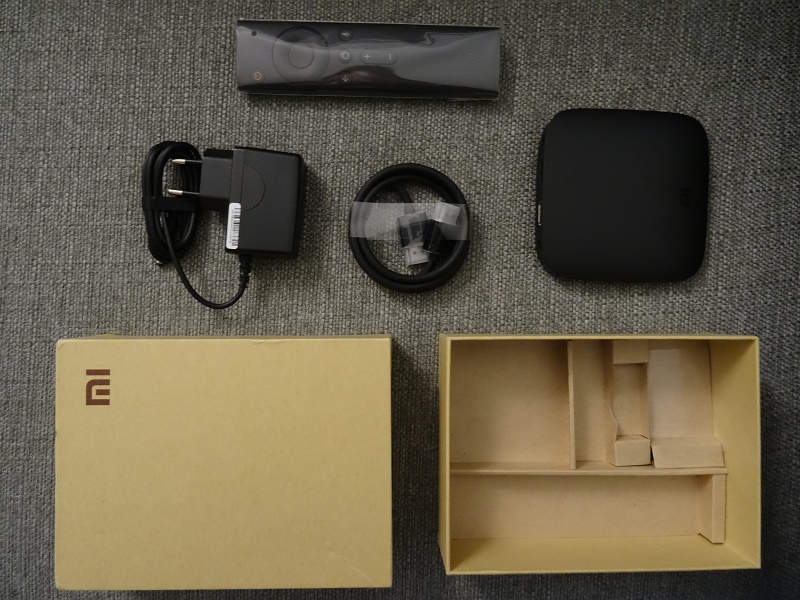 Test Xiaomi Mi Box 4K - package et déballage