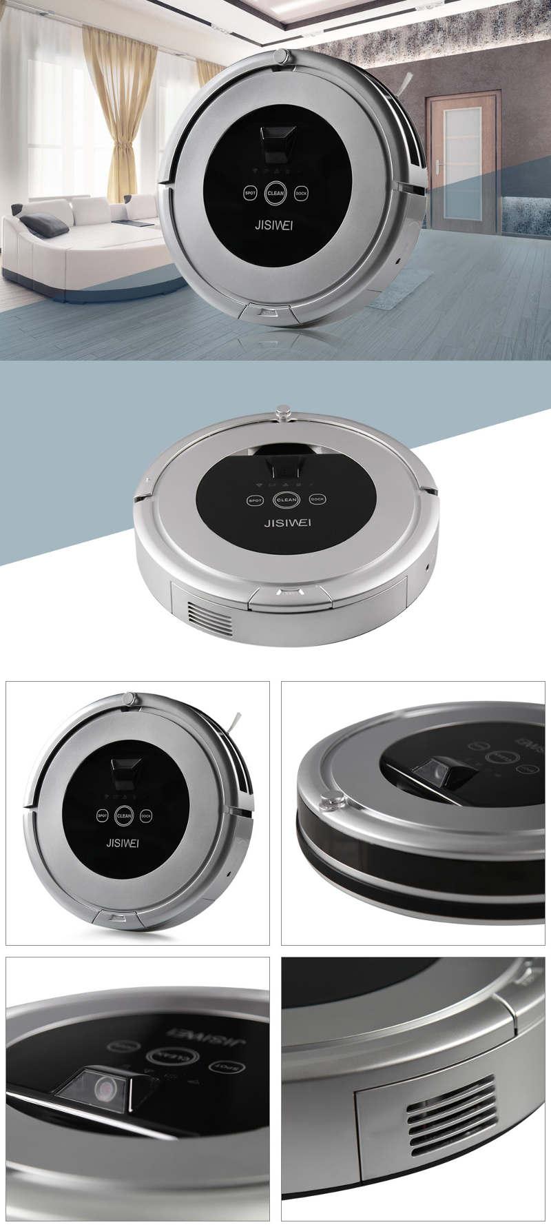 Test Jisiwei i5 - Design et vues multiples de l'aspirateur robot