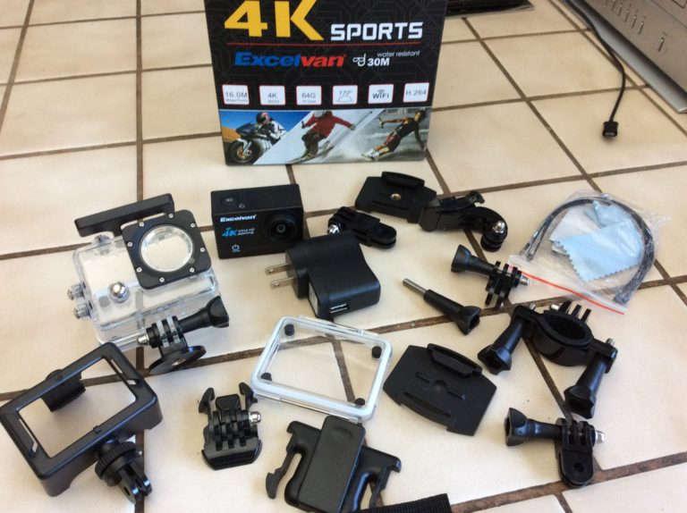 Test caméra Excelvan Q8 4K - accessoires