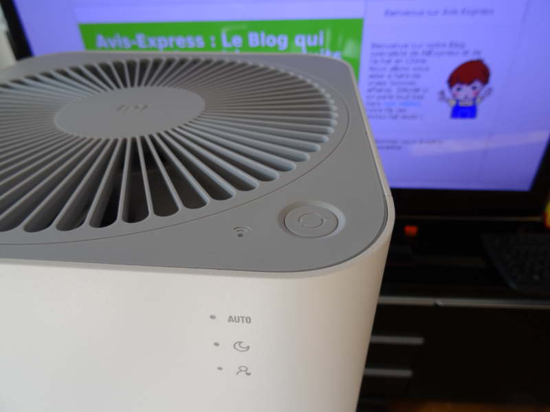 purificateur d'air xiaomi - bouton d'allumage
