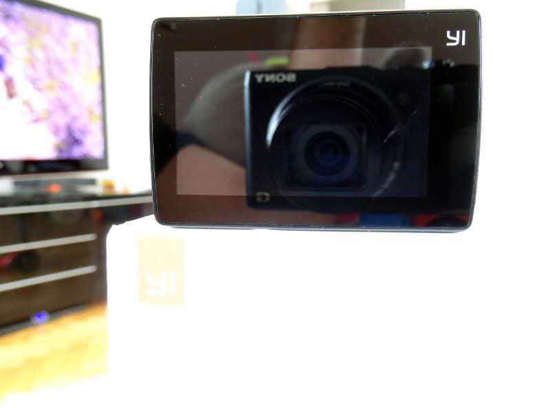 Test Xiaomi Yi Cam 4K - écran du 2,2cm