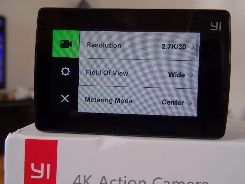 Test Xiaomi Yi Cam 4K - Menu de sélection de la résolution