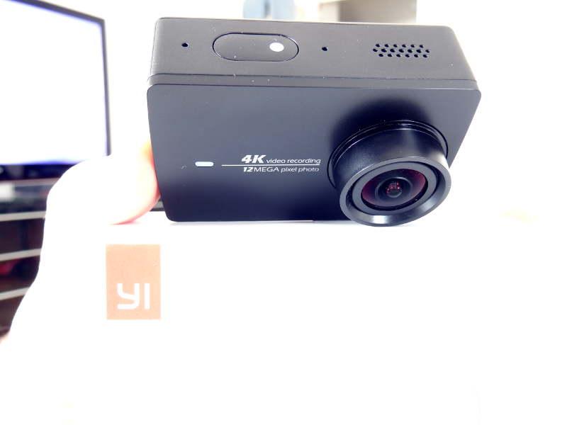 Test Xiaomi Yi Cam 4K - bouton d'allumage et de prise de vue
