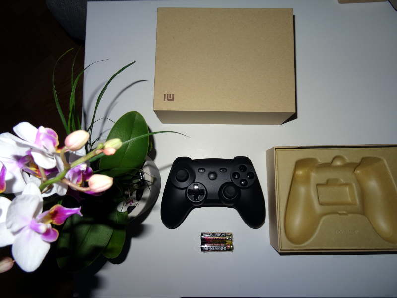 Test manette Xiaomi GamePad - piles et manette fournis par xiaomi