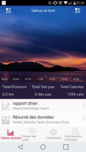 Application HPlus montre pour Zeblade Zaband - écran d'accueil