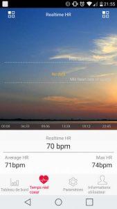 Application HPlus montre pour Zeblade Zaband - moniteur cardiaque