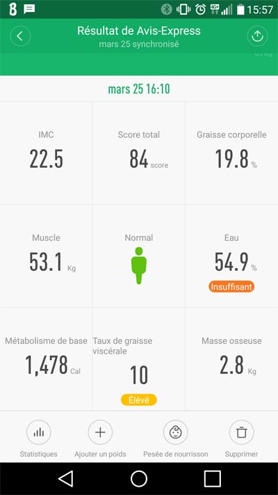 Application mi Fit balance xiaomi smart scale bluetooth 4.0 impédancemetre