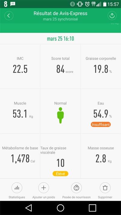 Test de la Xiaomi Smart Scale bluetooth avec impédancemètre