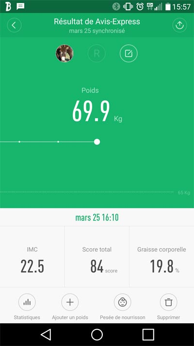 Application mi Fit balance xiaomi smart scale bluetooth 4.0 poids