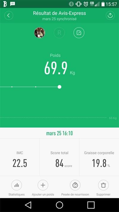 Application mi Fit balance xiaomi smart scale bluetooth 4.0 poids