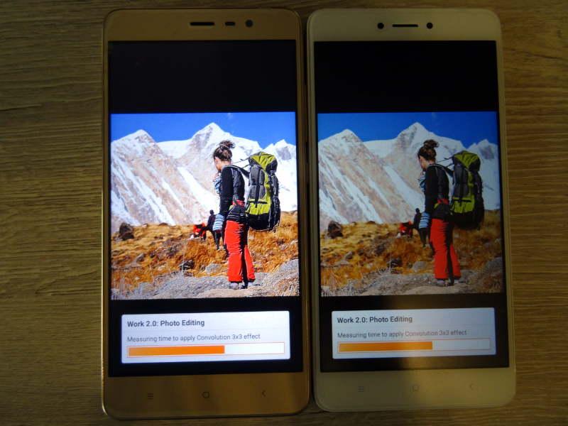 Comparaison xiaomi redmi note 3 pro et redmi Note 4X - pc mark