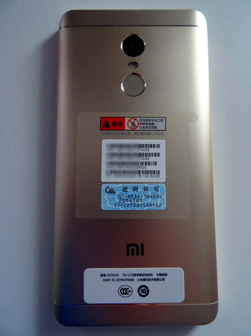 Test Xiaomi Redmi Note 4X - dos du smartphone