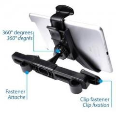 Test d'un support de tablette pour voiture à mettre sur l'appuie tête