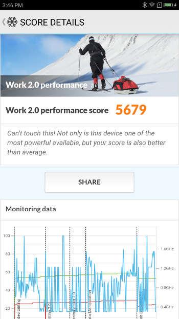 Test Lenovo ZUk Z2 - PCmark8