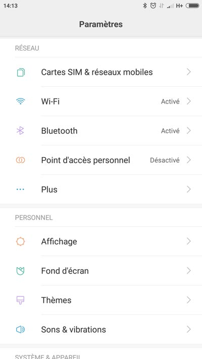 Test Xiaomi Mi5 - MIUI 8 settings