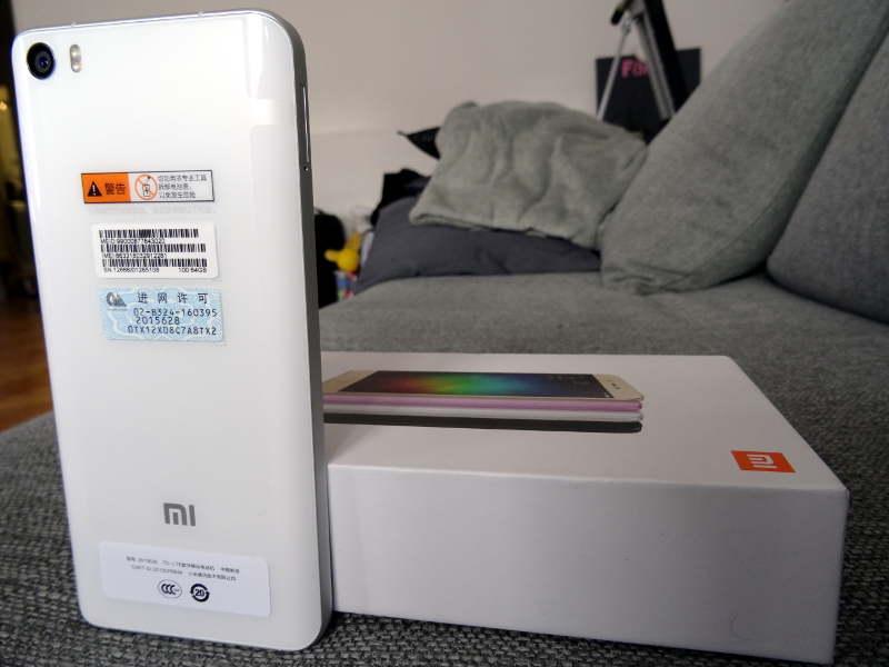 Test Xiaomi Mi5 - dos et capteur photo