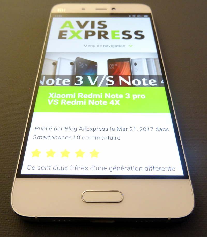 Test Xiaomi Mi5 - site avis-express