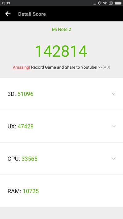 Xiaomi mi 2 result Antutu