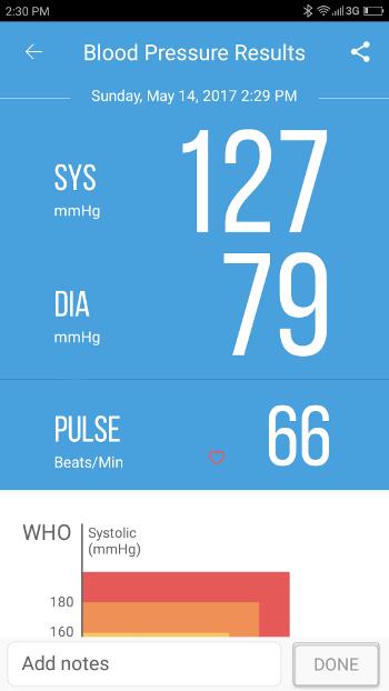 Test Xiaomi iHealth - tensiomètre et pression sur application
