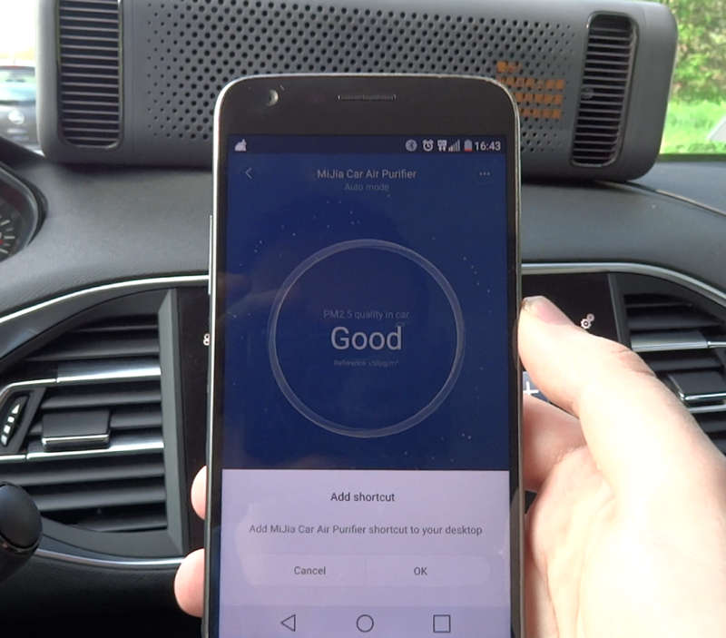 application purificateur d'air voiture xiaomi