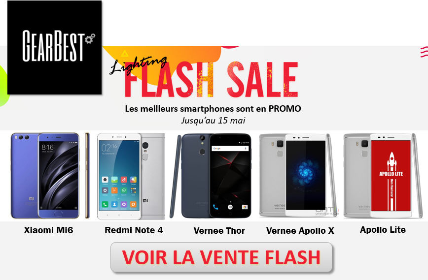 vente flash GearBest mai 2017