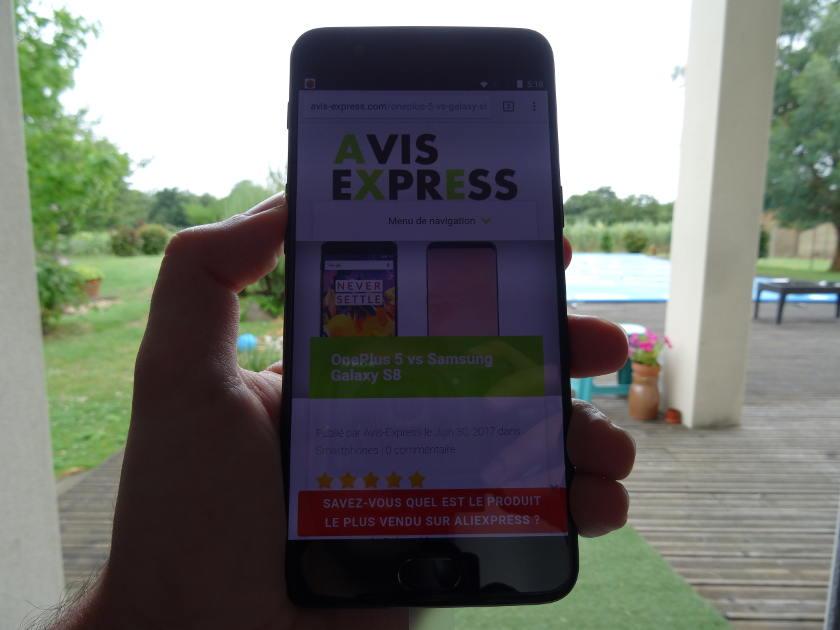 OnePlus 5 - avis-express blog test produits chinois