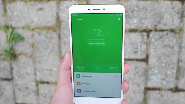 Xiaomi Mi Max 2 - utilisation moyenne batterie