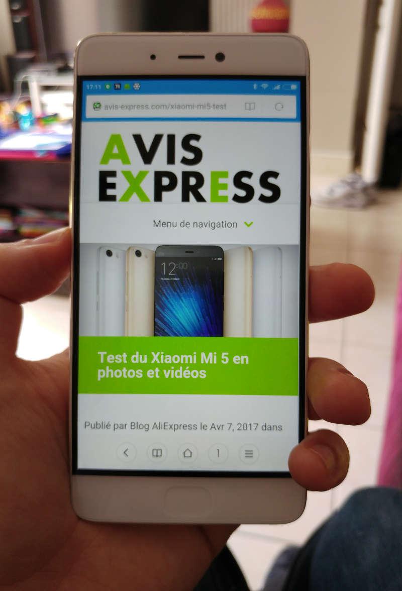 Xiaomi Mi5s écran