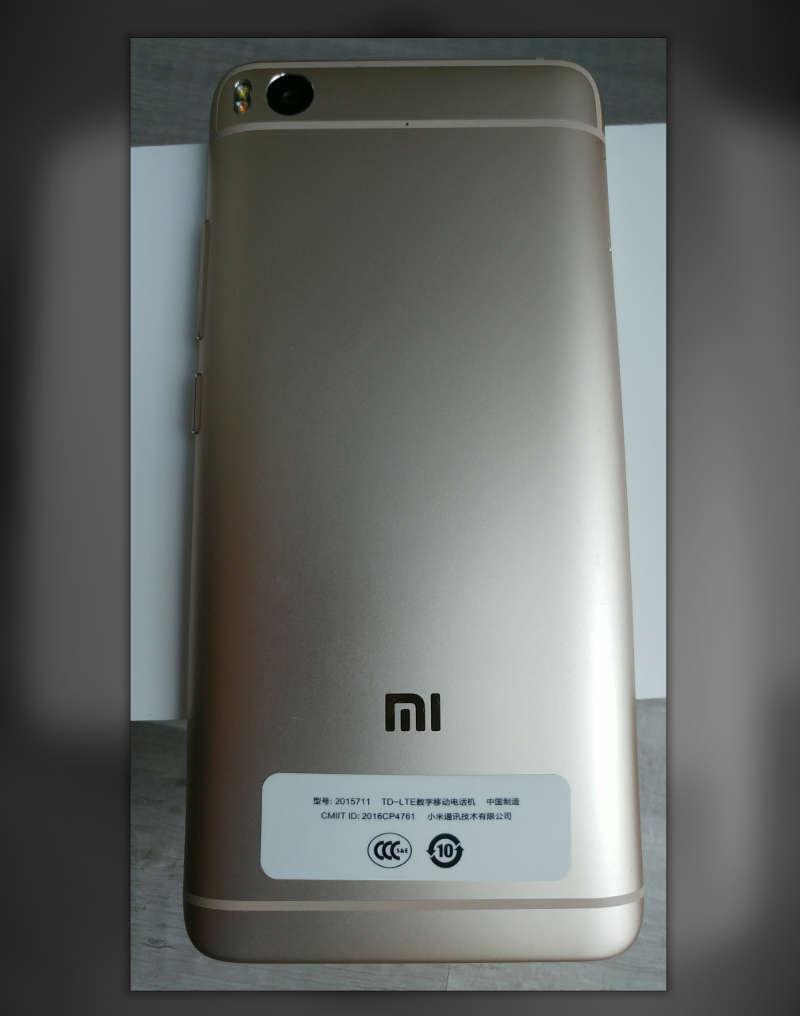 Xiaomi Mi5s arriere du smartphone