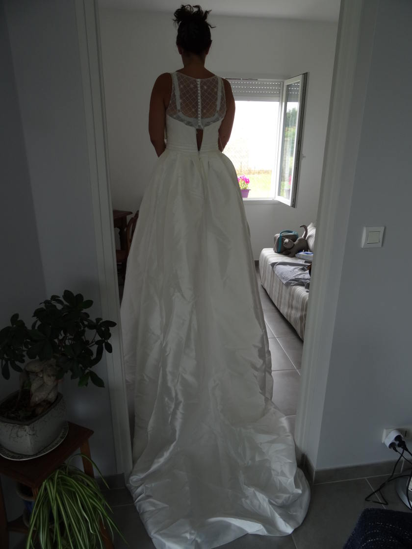 Robe de mariée lightinthebox - dos complet