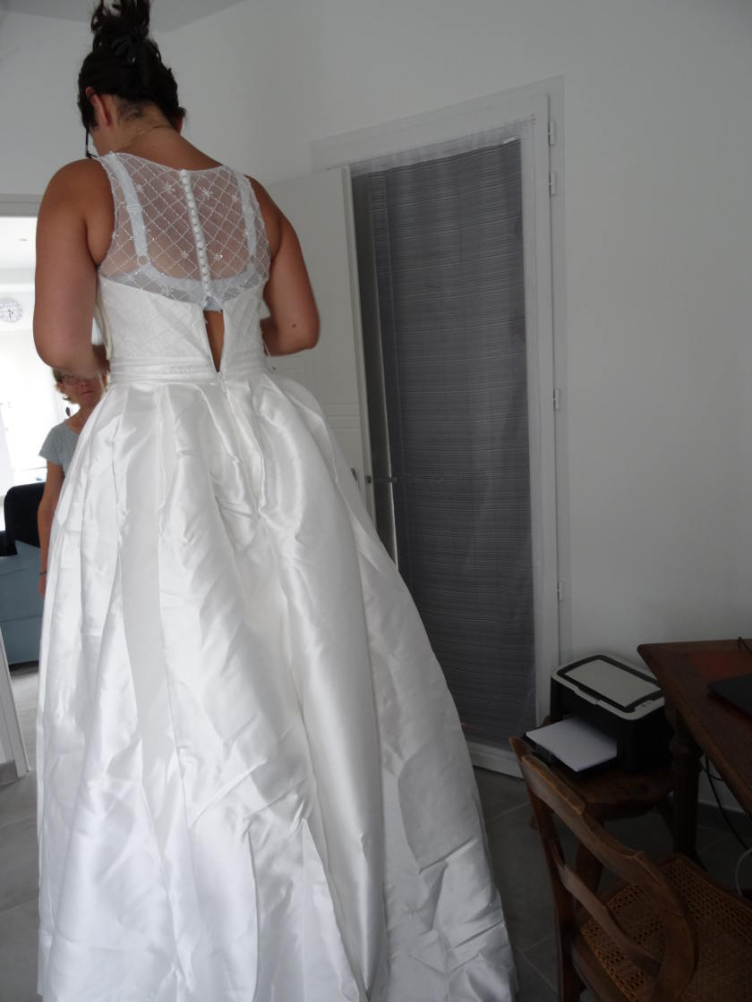 Robe de mariée lightinthebox - arrière