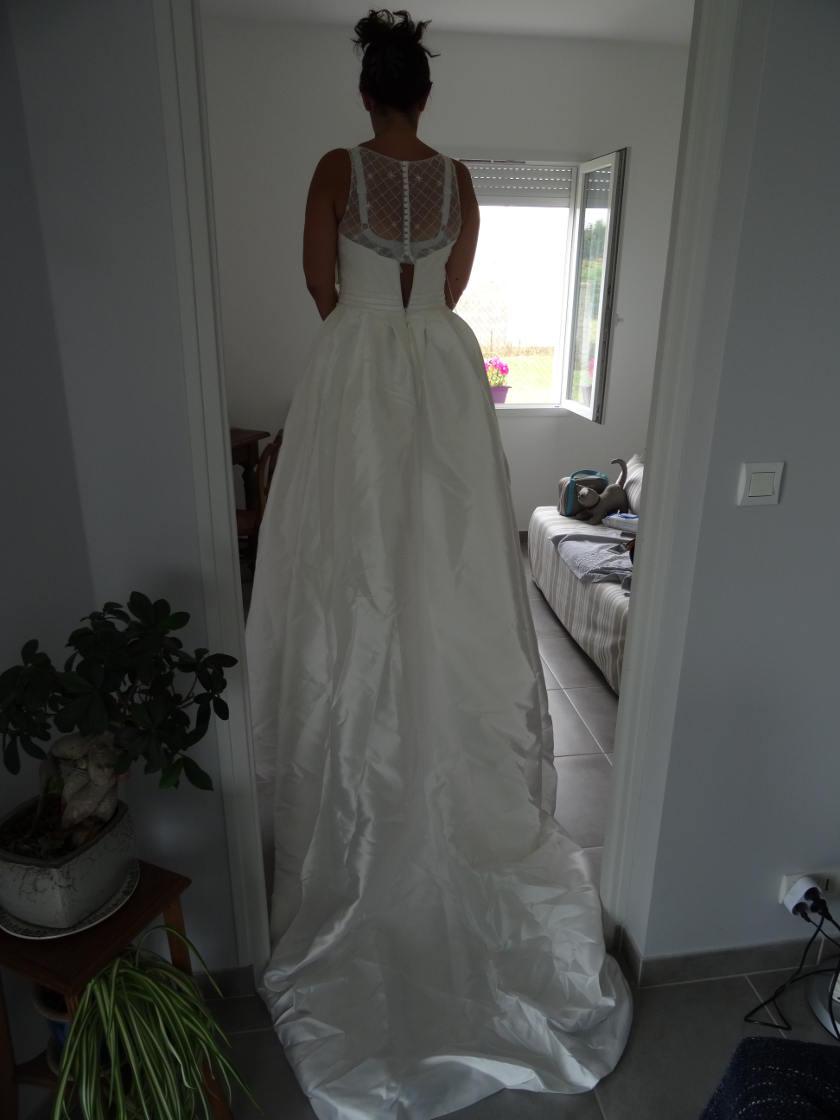 Robe de mariée lightinthebox - dos complet