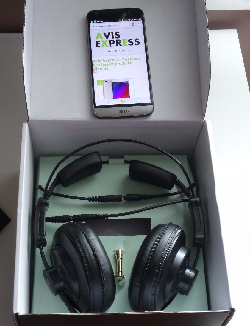 Superlux HD668B - package complet